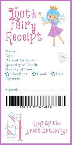 I love the idea of a tooth fairy receipt for down the road when Sweet Pea starts loosing her baby teeth. I also love the idea of a fairy door somewhere in her nursery. Tooth Fairy Receipt and many other awesome printables Tooth Fairy Receipt, Tooth Fairy Money, Tooth Fairy Certificate, First Tooth, Little Doll, Future Baby, Baby Love, Cute Kids, Just In Case
