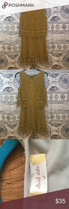 Altard state romper Great condition! Worn twice, just a little too big for me. Very very light green. Kind of like a vintage green. The color of the romper is most accurate in images 3&4. Altar'd State Pants Jumpsuits & Rompers