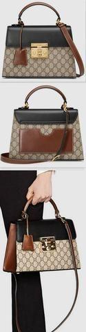 Padlock GG Supreme Top Handle Bag