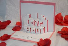 Lovely Valentines card; pop up I LOVE YOU!