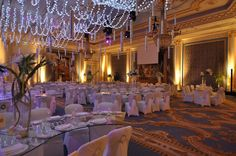 Wedding set-up in San Stefano ballroom