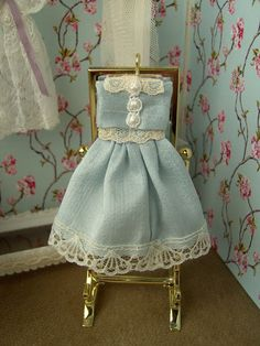 Dollhouse clothes. Little girl's display dress. Hand by Buyminiart