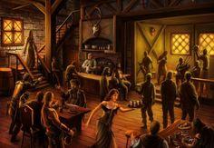 D&D fantasy Inn/pub/tavern audio atmosphere Fantasy inn The kingkiller chronicles Fantasy