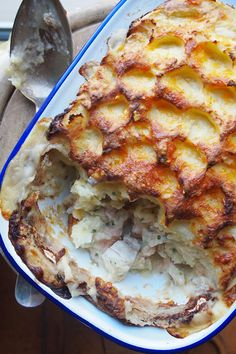 Good Old Fashioned Fish Pie with Cheesy Mash - A wonderful comforting dish - www.fishisthedish.co.uk/recipes/old-fashioned-fish-pie-with-cheesy-mash