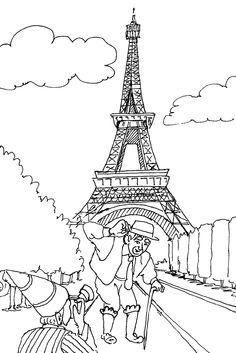 Eiffeltoren Parijs Kleurplaat Kleurplaat School Frankrijk Eiffel Toren Kleurplaten