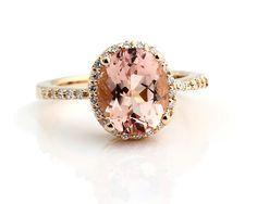 FAVE. Natural AAA Facet Cut Morganite  Solid 14K Yellow Gold by GNGJewel, $678.00