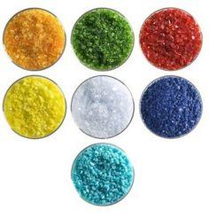 Rainbow Designer Collection - 90 COE, Bullseye Glass Coarse Frit Sampler Pack