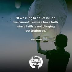 """""""If we cling to belief in God, we cannot likewise have faith, since faith is not clinging but letting go. Zen Quotes, Meditation Quotes, Strong Quotes, Faith Quotes, Wisdom Quotes, True Quotes, Inspirational Quotes, Mindfulness Meditation, Spiritual Wisdom"""