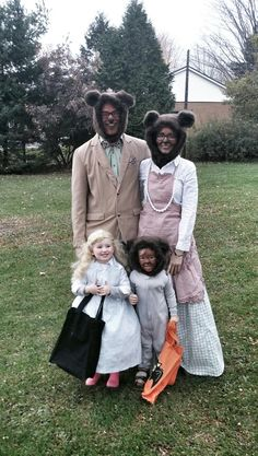 Goldie locks and the three bears costume