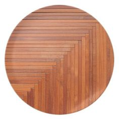 Glossy orange natural wooden planks plate