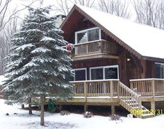 Rentals In The Poconos: Towamensing Trails Rustic Chalet/Cabin in the Woods