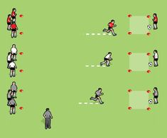 Improve speed, control, technique and teamwork. Great entertainment and competitive fun. Football Drills For Kids, Soccer Warm Up Drills, Fun Soccer Games, Football Coaching Drills, Football Workouts, Soccer Tips, Volleyball Tips, Pe Games, Soccer Stuff