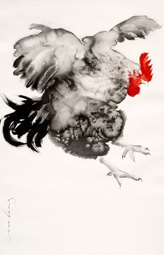 """Visit our website for even more info on """"buy art online artists"""". It is actually an exceptional area to read more. Chicken Painting, Chicken Art, Ink Painting, Clown Paintings, Animal Paintings, Watercolor Bird, Watercolor Animals, Japanese Art Prints, Watercolor Paintings For Beginners"""