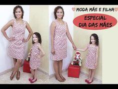 """Especial Dia Das Mães - """"Tal Mãe Tal Filha"""" - Vestido Tubinho Molde e Costura - YouTube"""