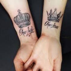 Pin by mostafa mone on tatoo partnertattoo, kronen-tattoos, Couples Hand Tattoos, Couple Tattoos Love, Couples Tattoo Designs, Tattoos For Women, Cute Tattoos, Unique Tattoos, Body Art Tattoos, Sleeve Tattoos, Tatoos