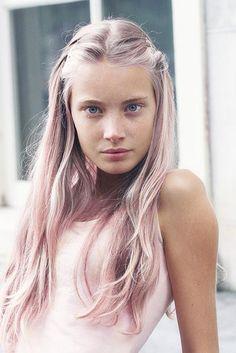 light pink grey hair