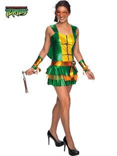 Halloween Sexy Teenage Mutant Ninja Turtle Michelangelo Costume