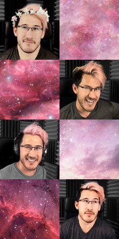 Pink space Credit to @markimu for the top left photo. It's an amazing edit!