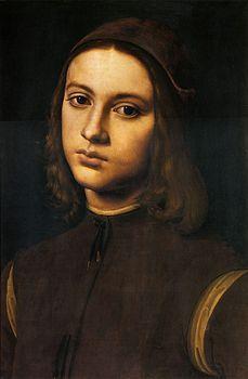 Perugino - Il Ritratto di giovane è un dipinto a olio su tavola (37x26 cm) di Pietro Perugino, databile al 1495 e conservato nella Galleria degli Uffizi a Firenze.