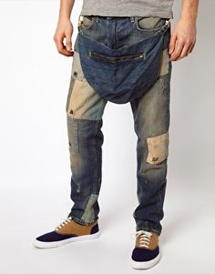 Oh Boy!! Would you 'really' wear these jeans? Vivienne Westwood Anglomania For Lee Jeans Low Crotch Repaired