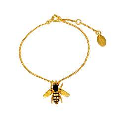Les Nereides - Bee on alveoli bracelet Love Persimmon