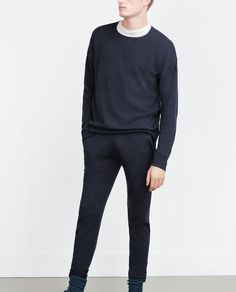 Image 2 of SOFT MELANGE TROUSERS from Zara