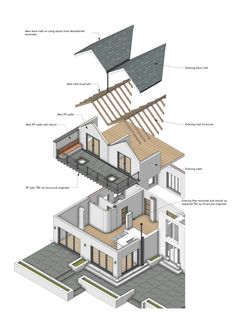Exploded Isometric Of A Two Storey House Extension Designed By JRA