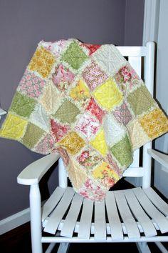 Baby Modern Vintage Rag Quilt by SewSkattrd on Etsy