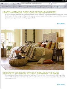 This is a Beautiful set up for a bedroom. I like the end table as an idea for my bedroom.