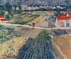 Vincent Van Gogh - Landscape at Auvers after the Rain Artist Van Gogh, Auvers Sur Oise, Art Drawings Sketches, Web Gallery, Art Van, Dutch Artists, Post Impressionism, Vincent Van Gogh, Landscape Art