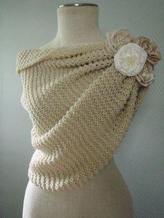 Off white wedding shawl bridal shawl wedding by deniz03 on Etsy