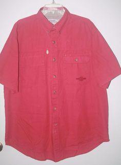 Wrangler Rugged Wear Button Front Shirt XL 17 17.5 Short Sleeve #Wrangler #ButtonFront