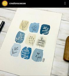 Winter doodles with white gold and classic blue . Watercolor Pattern, Abstract Watercolor, Watercolor And Ink, Watercolor Paintings, Watercolours, Art Journal Inspiration, Painting Inspiration, Art Inspo, Art Sketches