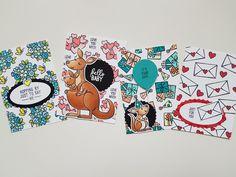 #stampinup #kangaroo Stampin Up, Love You, Just For You, Tampons, Say Hi, Atc, Kangaroo, Scrapbooking, Cards