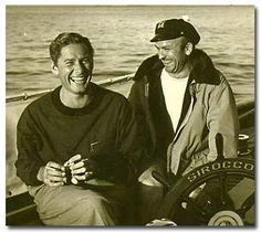 Errol Flynn and Buster Wiles on the Sirocco