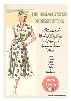 The Haslam System of Dressmaking No. 22 - 1950's - PDF Booklet Instant Download