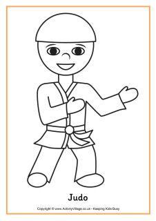 judo colouring page
