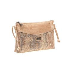 Vegan Cork Crossbody Bag with a color contrasting detail on the front. Eco-friendly, durable and made in Portugal. Montado – Cork Fashion.