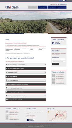 """Site """"Francil"""" - Page d'accueil"""