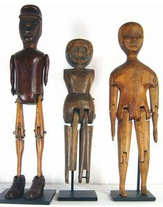 Love these cute wooden people.