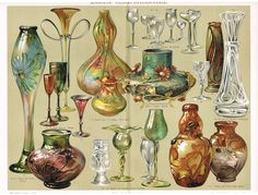 Glass Industry. Antique Chromolithograph from 1898 from curioshop on Ruby Lane