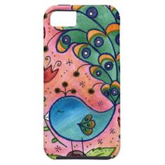 Whimsical Peacock iphone case iPhone 5 Cases