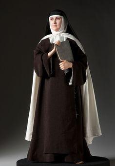 Full length color image of St. Teresa of Avila, by George Stuart. Catholic Saints, Patron Saints, Renaissance And Reformation, Saint Teresa Of Avila, Doll Museum, Les Religions, Kirchen, Historical Clothing, Fashion Dolls