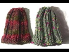 Loom Knit a Triple Rib Hat Beginning to End - YouTube