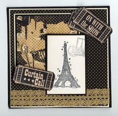 Eiffel Tower Curtain Call Card
