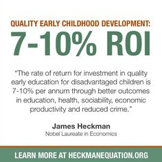 What is the value of investing in early learning.... buckle up and check it out!