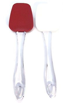 Cooking Concepts  Silicone Spatula Set  Set of 2  Red and White  6 Inches -- Visit the image link more details.