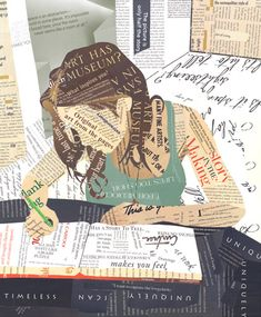 writing and collages