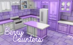 Berry CountersThis is a recolor of the S. Cargeaux Counters (base game!), Islands, and Cabinets. They come in 15 Colors plus white. The counters and islands come in both colorful cabinet with a white...