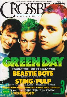 View photos of Green Day from The Insomniac Era, Green Day, Elvis Costello, Billie Joe Armstrong, Good Vibe Songs, Old Memes, Beastie Boys, Music Magazines, Music Wall, Cool Posters